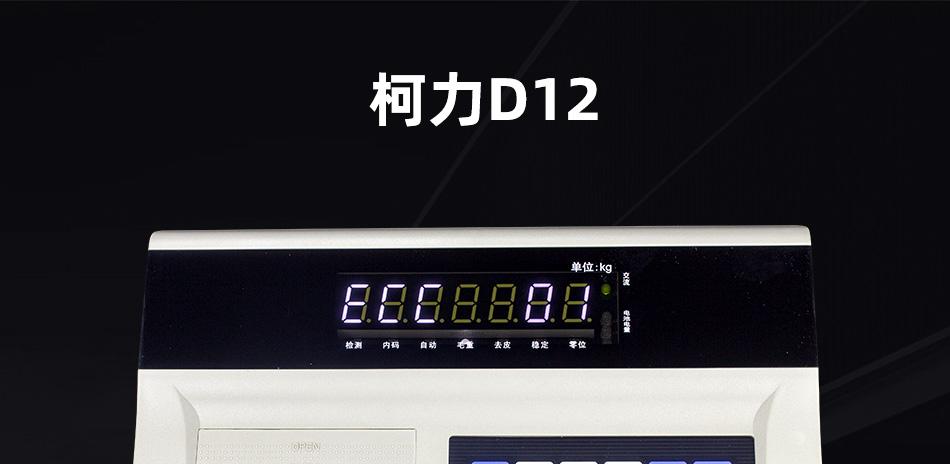 柯力仪表D12海报